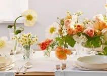 2 estilos con manteles de centro de mesa para decorar