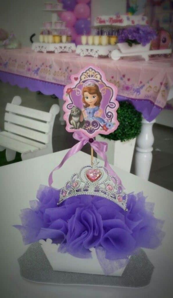 centro de mesa de princesita como hacer