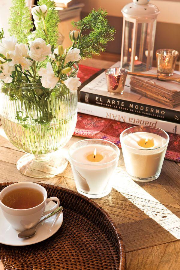 centro de mesa para cocina con flores
