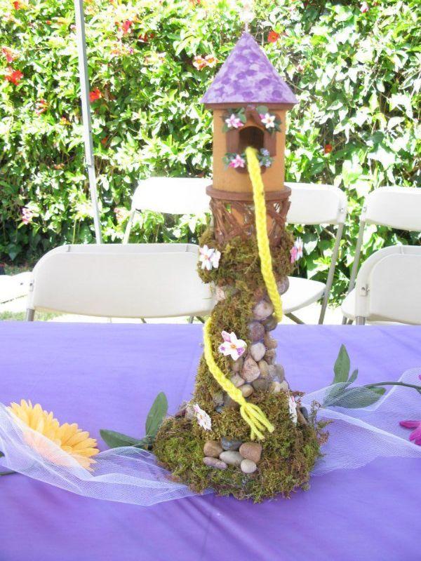 centros de mesa de rapunzel ideas creativas