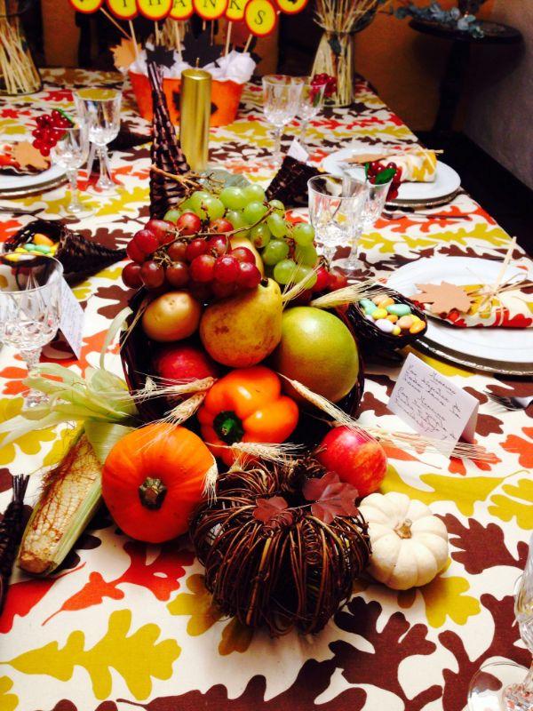 centros de mesa para la abundancia con manzanas