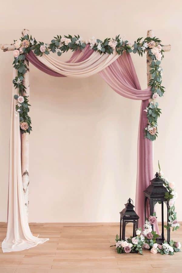decoración de bodas sencillas en casa