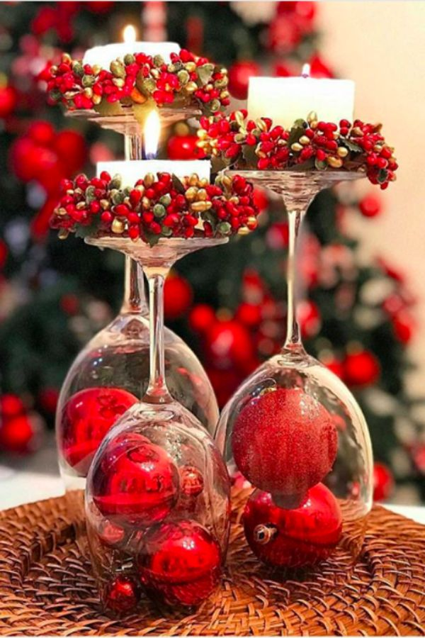 decoracion de mesa de navidad centros de mesa