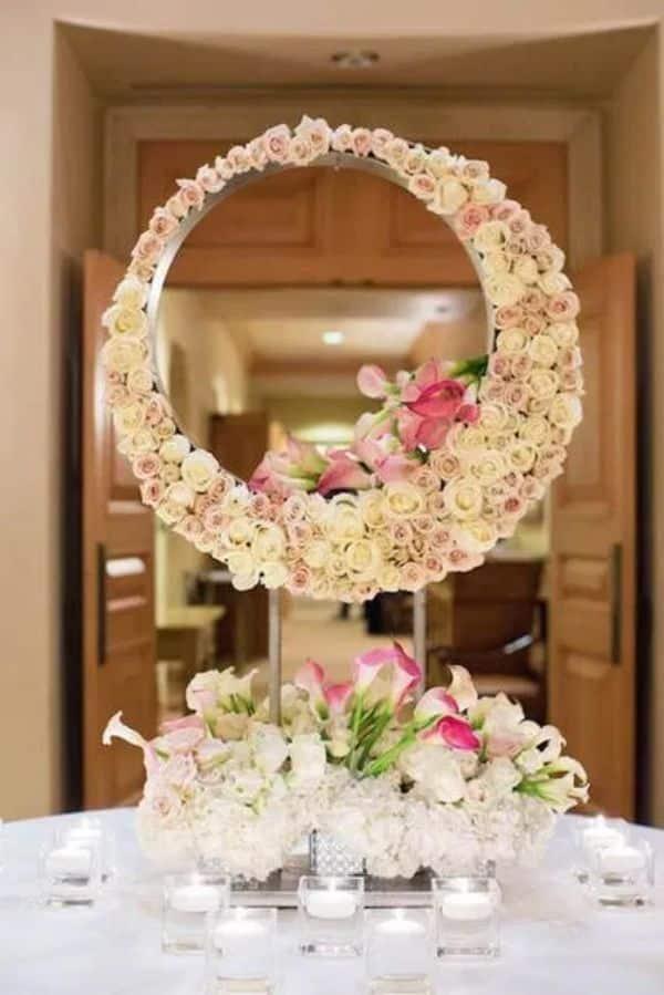 decoraciones de mesas para 15 años con flores