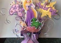 4 centros de mesa de rapunzel para fiestas de niñas