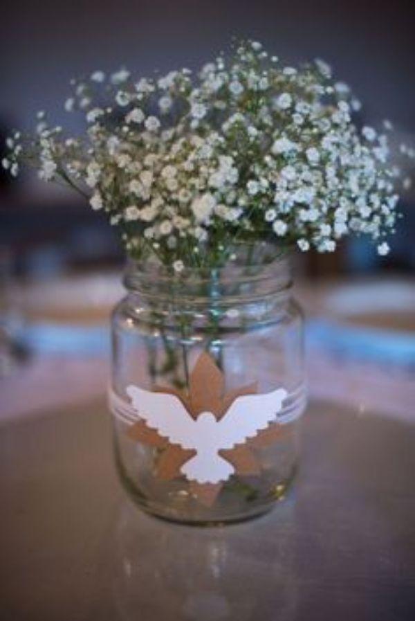 centros de mesa de nena con flores