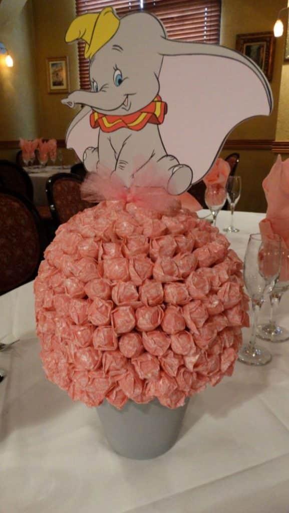 centros de mesa de dumbo con flores