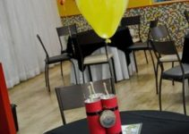 2 tipos de centros de mesa de fortnite para fiestas de niños