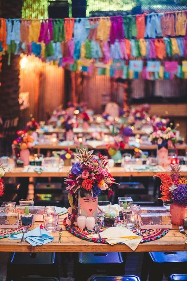 centros de mesa de frida kahlo para fiestas