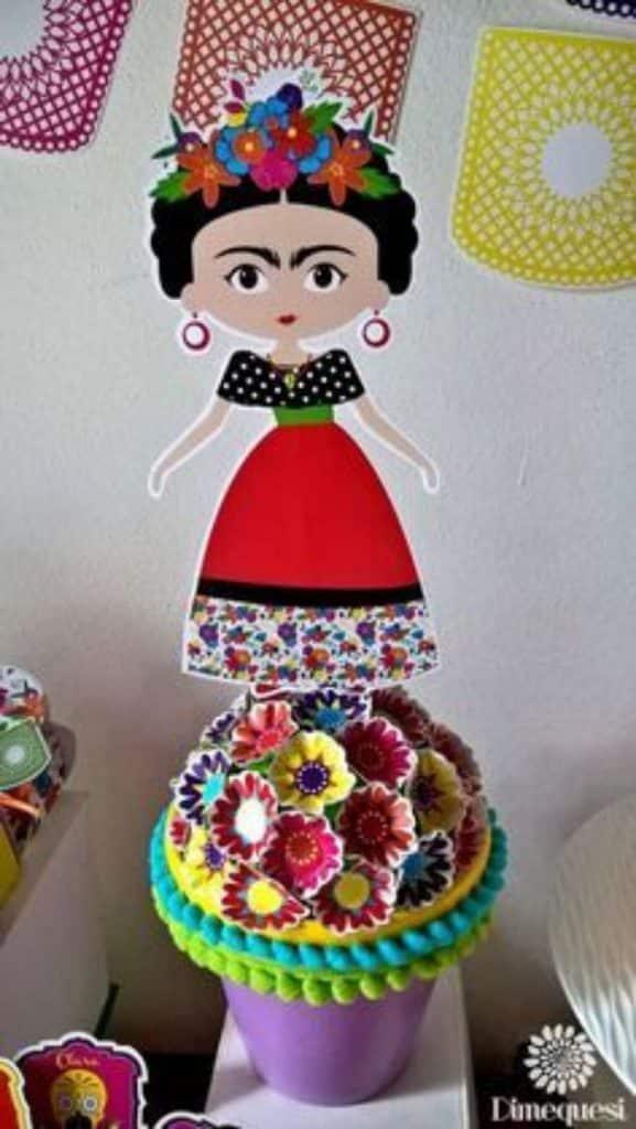 centros de mesa de frida kahlo sencillos