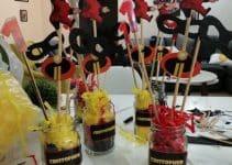 3 centros de mesa de jack jack para fiestas infantiles
