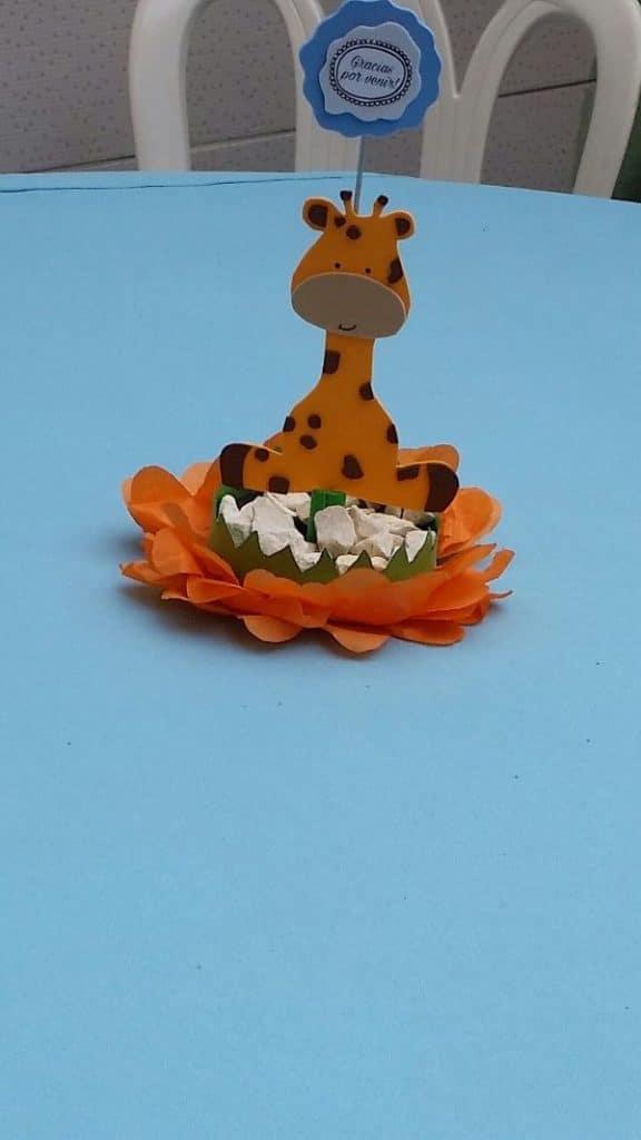 centros de mesa de jirafa facil