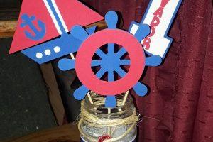4 centros de mesa de marinero para una linda fiesta infantil