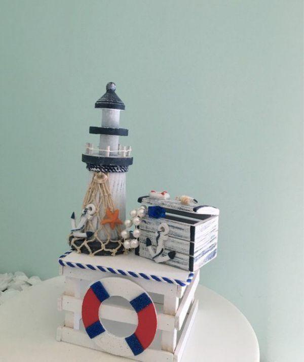 centros de mesa de marinero simple