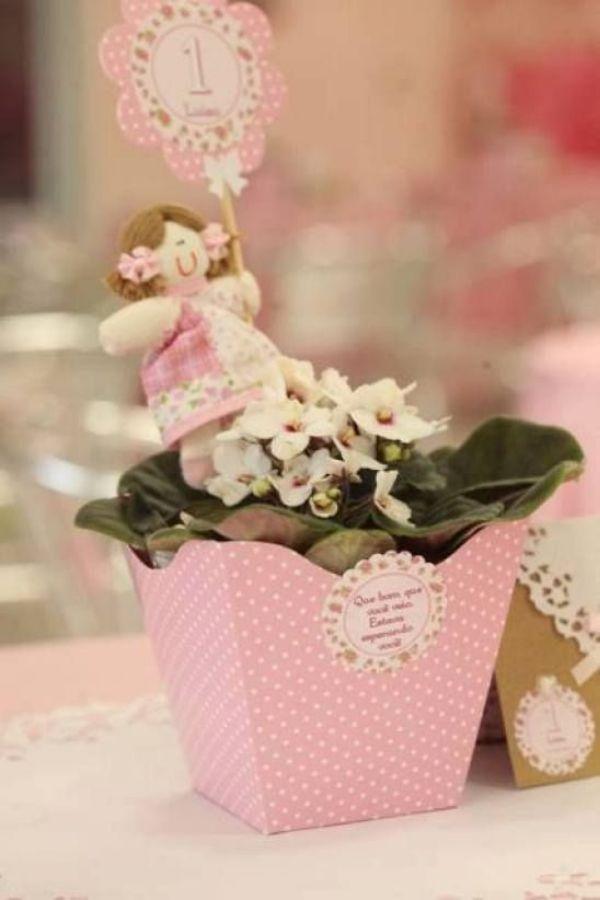 centros de mesa de nena rosados