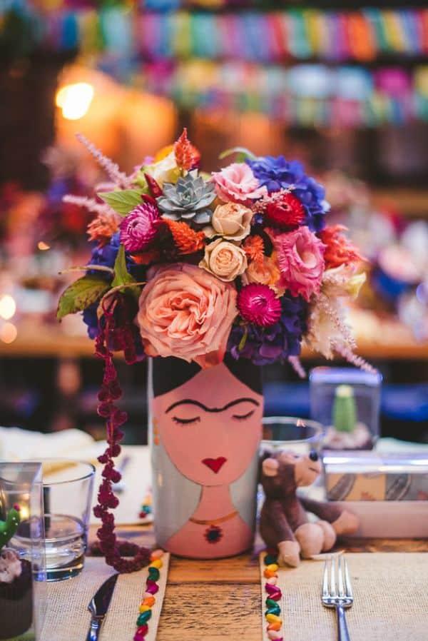centros de mesa frida kahlo para quinces