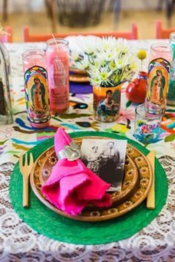 centros de mesa frida kahlo simples